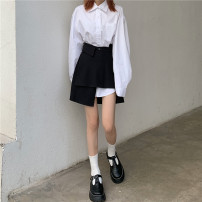 Fashion suit Spring 2021 Average size Black skirt, white shirt 18-25 years old