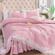Bedding Set / four piece set / multi piece set cotton Embroidered quilting Solid color 133x72 TIROS cotton 4 pieces 40 Bedskirt bedspread Qualified products Princess style 100% cotton twill Reactive Print  HKCMWM