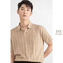 Polo shirt Other / other Fashion City routine Khaki, army green, black M,L,XL,2XL Self cultivation go to work summer Short sleeve tide routine youth 2021 Solid color