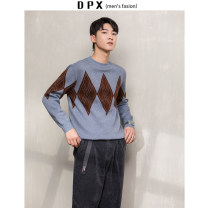 T-shirt / sweater Others Fashion City Black, blue, coffee M,L,XL,2XL thickening Socket Crew neck Long sleeves winter Straight cylinder 2019 go to work Basic public youth routine diamond