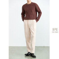 Casual pants Others Fashion City Black, dark grey, off white S,M,L,XL,2XL routine trousers go to work Straight cylinder Micro bomb winter youth Basic public 2021 middle-waisted Straight cylinder Pocket decoration Solid color corduroy