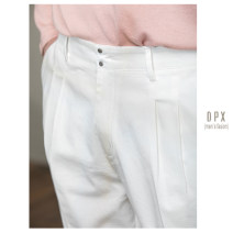Casual pants Others Fashion City White, black S,M,L,XL,2XL routine trousers go to work Straight cylinder Micro bomb spring youth Basic public 2020 middle-waisted Straight cylinder