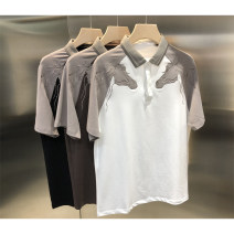Polo shirt Other / other Fashion City routine Black, brown, white M,L,XL,2XL,3XL standard go to work summer Short sleeve routine youth 2020