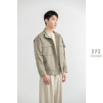 Jacket Other / other Fashion City Black, Khaki M,L,XL,2XL,3XL routine standard go to work spring Long sleeves Wear out Lapel Simplicity in Europe and America youth routine 2021 Rib hem Closing sleeve Solid color