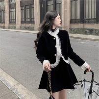 Women's large Winter 2020, spring 2021 Jacket, skirt It is suggested that the size of the recommended size is 120-40kg, and it is recommended to use the size of 120-40kg Two piece set commute easy thick Cardigan Long sleeves Korean version routine routine 18-24 years old Short skirt