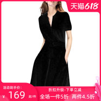 Dress 25-29 years old OM19-1080 Xixi River Pure e-commerce (online sales only) Polyester 100% Europe and America Winter of 2019 Medium length skirt street singleton  More than 95% polyester fiber S M L XL 2XL