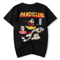 T-shirt Youth fashion Black and white routine M L XL 2XL 3XL 4XL 5XL Street Group Short sleeve Crew neck standard daily summer Cotton 100% teenagers routine Chinese style Knitted fabric Spring of 2019 Animal design Embroidery cotton Chinese culture No iron treatment Fashion brand More than 95%