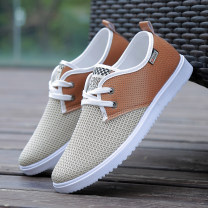 Net shoes Everyday Gauze ventilation summer leisure time Net shoes 903  Round head low-heel youth Net shoes Spring 2018 Sewing Frenulum Solid color Dance Night Boys Mesh cloth Flat heel Pure e-commerce (online sales only) 39 40 41 42 43 44