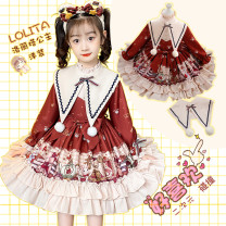 Dress female Other / other Polyester 80% cotton 20% winter princess Long sleeves Cartoon animation Cotton blended fabric A-line skirt Class B 2, 3, 4, 5, 6, 7, 8, 9, 10, 11, 12, 13, 14 years old Chinese Mainland Guangdong Province Shantou City