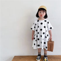 Dress Dot dress female Other / other 90cm,100cm,110cm,120cm,130cm,140cm,150cm Other 100% summer Korean version Short sleeve Dot other A-line skirt 2 years old, 3 years old, 4 years old, 5 years old, 6 years old, 7 years old, 8 years old Chinese Mainland