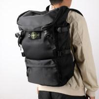 Men's bag The single shoulder bag Other / other Black, green inside pocket with a zipper Backpack