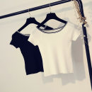T-shirt White, black Average size Summer of 2019 Short sleeve One word collar Self cultivation have cash less than that is registered in the accounts raglan sleeve commute other 51% (inclusive) - 70% (inclusive) 18-24 years old Simplicity Solid color Other / other