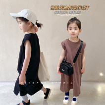 Dress Black long t skirt (spot), coffee long t skirt (spot), black long t skirt (pre-sale), coffee long t skirt (pre-sale) female SENBABY 90, 100, 110, 120 (model), 130, 140, 150 Other 100% spring and autumn Simplicity Skirt / vest Solid color other other s662