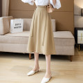skirt Summer 2021 S,M,L,XL Apricot, yellow, black Mid length dress Natural waist Solid color 18-24 years old CT 71% (inclusive) - 80% (inclusive)