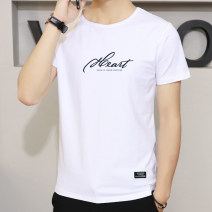 T-shirt SY930 Cotton 95% polyurethane elastic fiber (spandex) 5% Spring 2021 Pure e-commerce (online sales only) youth routine tide Short sleeve routine daily Youth fashion Self cultivation Suneasy / Xuyi Crew neck summer Alphanumeric cotton The thought of writing Fashion brand printing washing