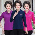 T-shirt XL,2XL,3XL,4XL,5XL Spring 2021 Long sleeves Polo collar Self cultivation Regular routine commute cotton 96% and above 40-49 years old Simplicity youth Solid color
