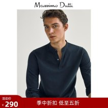 Polo shirt Massimo Dutti Fashion City routine Light green S (CN 175/92A) M (CN 180/96A) L (CN 185/104A) XL (CN 185/108A) XXL (CN 190/116A) Self cultivation go to work Long sleeves 00710206501-27 Cotton 100% cotton Winter 2020 Same model in shopping mall (sold online and offline) More than 95%