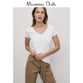 T-shirt white XS S M L XL Summer 2020 Short sleeve Crew neck easy Regular routine street cotton 86% (inclusive) -95% (inclusive) Massimo Dutti 06870900250-23 Cotton 92% polyurethane elastic fiber (spandex) 8% Same model in shopping mall (sold online and offline) Europe and America