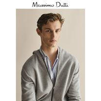 T-shirt / sweater Massimo Dutti other grey routine Cardigan Crew neck Long sleeves Cotton 100% go to work Summer of 2019 Same model in shopping mall (sold online and offline)