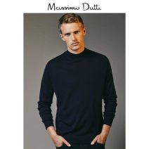 T-shirt / sweater Massimo Dutti Fashion City blue S (175/92A) M (180/96A) L (185/104A) XL (185/108A) XXL (190/116A) Thin money Socket Crew neck Long sleeves 00917325401-27 Wool 100% business affairs Business Casual youth Autumn 2020 Same model in shopping mall (sold online and offline)