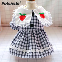 Pet clothing / raincoat currency Dress XS - about 3 kg, s - about 5 kg, M - about 8 kg, L - about 10 kg, XL - about 15 kg, weight is only for reference, please take the chest circumference and back length as the criterion [don't pat this item] PETCIRCLE princess