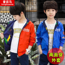 Plain coat Fairy tale horse male Orange blue spring and autumn leisure time Zipper shirt There are models in the real shooting routine No detachable cap other other other Other 100% Class C Autumn 2020