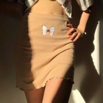 skirt Autumn 2020 S,M,L Light blue, light purple, green, khaki, gray, black 81% (inclusive) - 90% (inclusive) cotton