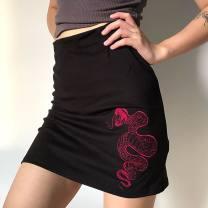 skirt Autumn 2020 S,M,L black 71% (inclusive) - 80% (inclusive) nylon
