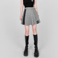 skirt Spring 2021 S,M,L Black, kiwi Short skirt Versatile High waist Pleated skirt lattice Type A 18-24 years old 31% (inclusive) - 50% (inclusive) brocade cotton 201g / m ^ 2 (including) - 250G / m ^ 2 (including)