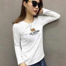 T-shirt White black S M L XL XXL Spring 2021 Long sleeves Crew neck Straight cylinder Regular routine street cotton 86% (inclusive) -95% (inclusive) originality Cartoon letters Nasiko Cotton 95% polyurethane elastic fiber (spandex) 5% Pure e-commerce (online only) Europe and America