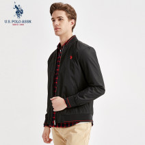 Jacket U.S. POLO ASSN. Fashion City Black army green red blue navy blue S/165 M/170 L/175 XL/180 XXL/185 XXXL/190 routine standard motion spring A5191111001 Polyester 100% Long sleeves Wear out Baseball collar tide youth routine Zipper placket Rib hem Closing sleeve Solid color polyester fiber