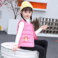 Vest female winter routine There are models in the real shooting Single breasted Korean version polyester fiber Cartoon animation Polyester 100% Class C Silk floss Cotton liner Chinese Mainland 2, 3, 4, 5, 6, 7, 8, 9, 10, 11, 12 years old