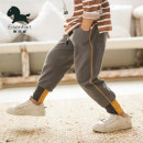 trousers Isina male spring and autumn trousers leisure time There are models in the real shooting Casual pants Leather belt middle-waisted Cotton 100% Autumn of 2018 3 years old, 4 years old, 5 years old, 6 years old, 7 years old, 8 years old, 9 years old, 10 years old, 11 years old, 12 years old