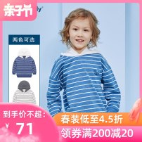 Sweater / sweater Great family Blue white male 90cm 100cm 110cm 120cm 130cm spring and autumn Cotton 100%