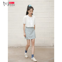 Fashion suit Summer 2020 S M L White [top] blue [skirt] 18-25 years old Honey Princess MFE202053033 Other 100% Pure e-commerce (online only)