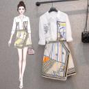 Fashion suit Summer 2021 Large M (80-100kg), large L (100-120kg), XL (120-140kg), 2XL (140kg-160kg), 3XL (160kg-180kg), 4XL (180kg-200kg) Shirt, skirt 25-35 years old
