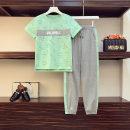 Fashion suit Summer 2020 M (recommended below 100 kg), l (recommended 101-110 kg), XL (recommended 111-120 kg), 2XL (recommended 121-130 kg), 3XL (recommended 131-145 kg), 4XL (recommended 146-160 kg), 5XL (recommended 161-180 kg), 6xl (recommended 181-200 kg) Green, yellow, black, pink cotton