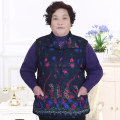 Middle aged and old women's wear Spring of 2018 leisure time Vest easy singleton  Retro Design 50-59 years old Cardigan moderate Polo collar routine Fat and beautiful pocket polyester Polyester 100% 96% and above Pure e-commerce (online only) Single breasted
