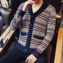 T-shirt / sweater Yuzhong Youth fashion As shown in the figure M L XL 2XL routine Cardigan Door collar (Henry collar) Long sleeves Y13*- Slim fit 2018 Polyester 100% leisure time tide teenagers Autumn of 2018 Pure e-commerce (online only)