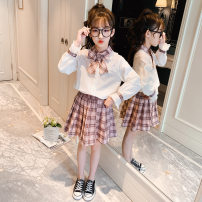 suit Other / other Pink, green spring college Long sleeve + skirt 2 pieces routine There are models in the real shooting Socket lattice Pure cotton (100% cotton content) Class B Three, four, five, six, seven, eight, nine, ten, eleven, twelve, thirteen