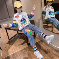 suit Other / other Picture color female spring Long sleeve + pants 2 pieces There are models in the real shooting Solid color other Expression of love Class B Three, four, five, six, seven, eight, nine, ten, eleven, twelve, thirteen