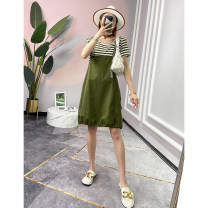 Fashion suit Summer 2021 S,M,L Black, green 25-35 years old Fashion 96% and above cotton