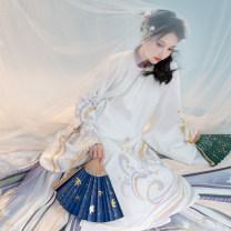 Hanfu 31% (inclusive) - 50% (inclusive) Top coat with velvet, bottom skirt S,M,L polyester fiber