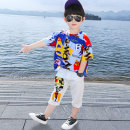 suit Mardan ant blue 100cm 110cm 120cm 130cm 140cm 150cm 160cm male summer Korean version Short sleeve + pants 2 pieces Thin money There are models in the real shooting Socket nothing Cartoon animation cotton children Expression of love mdmy0017 Class B Summer 2021 Chinese Mainland Zhejiang Province