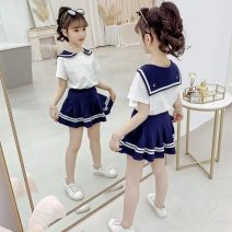 suit Other / other Little moon Pink (two pack), little moon blue (two pack) 110 for height 95-100120 for height 105-110130 for height 115-120140 for height 125-130150 for height 135-140 female summer 2 pieces printing Cotton 100% Three, four, five, six, seven, eight, nine, ten, eleven, twelve