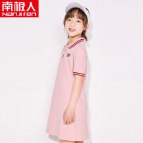 Dress female NGGGN Cotton 95% polyamide (nylon) 5% summer leisure time cotton A-line skirt other NJRXP00203806 Class B Summer 2021 powder 110cm 120cm 130cm 140cm 150cm 160cm 165cm