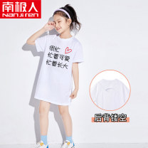 Dress female NGGGN Cotton 100% summer lady printing cotton other NJRXPLKCT000022 Class B 4 years old, 5 years old, 6 years old, 7 years old, 8 years old, 9 years old, 10 years old, 11 years old, 12 years old, 13 years old, 14 years old Summer 2021 110cm 120cm 130cm 140cm 150cm 160cm 165cm
