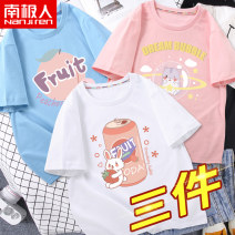 T-shirt NGGGN 110cm 120cm 130cm 140cm 150cm 160cm 165cm female summer Short sleeve Crew neck motion There are models in the real shooting nothing cotton Cartoon animation Cotton 100% NJRXP02797 Class B other Spring 2021 Chinese Mainland