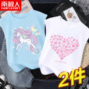 Vest sling Sleeveless 110cm 120cm 130cm 140cm 150cm 160cm 165cm summer NGGGN female There are models in the real shooting motion Cartoon animation Crew neck nothing Pure cotton (95% and above) Cotton 100% Class B Spring 2021 Chinese Mainland