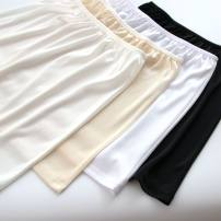 skirt Summer of 2019 One size fits all, short-s (40cm), short-m (41cm), short XL (43cm), Medium-s (50cm) ~%, medium-m (51cm), medium-l (52cm), medium XL (53cm) White, apricot, black, milk white Short skirt Versatile other Solid color 18-24 years old knitting